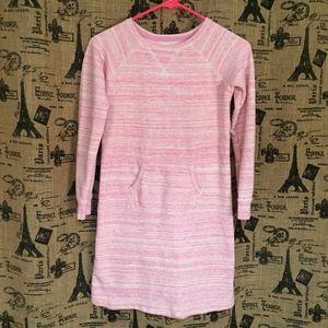Land's End Pink Girls Sweatshirt Dress Size 10